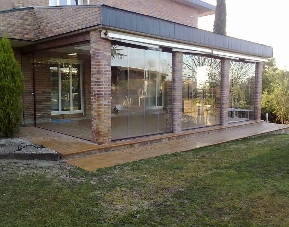 Cortina de cristal templado for Cortinas de cristal para terrazas