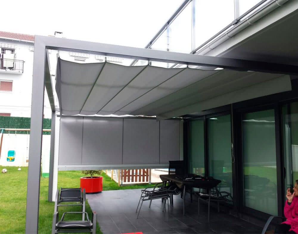 Kit toldo plano con porter a y largueros for Materiales para toldos de aluminio