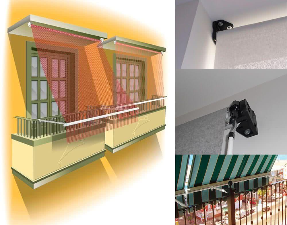 Toldo vertical estor o balc n for Toldos de lona para balcones